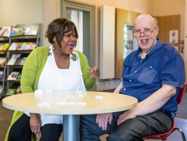 Social care: Carer Yvonne and Geoffrey, part of the council's Shared Lives programme