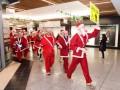 Running Santas in Ealing Broadway