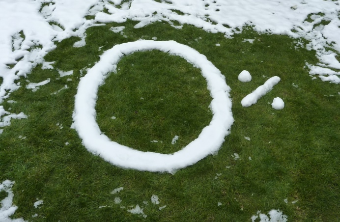 Zero per cent written in snow