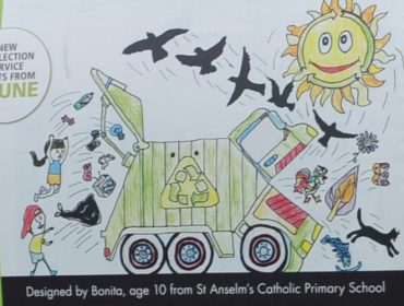 Bonita's winning recycling truck art design