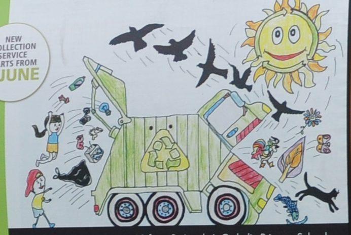 Bonita's winning recycling truck art design