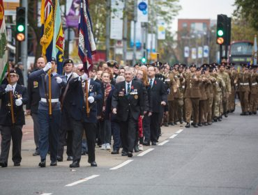 March to Ealing War Memorial at last year's remembrance service