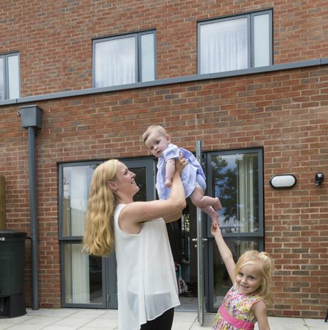 Charlotte and Mark Laws and their children moved into a new house in Copley in May