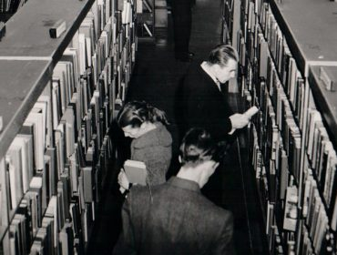 Crowded library in Acton
