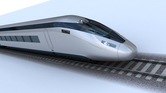 HS2 train - artists' impression