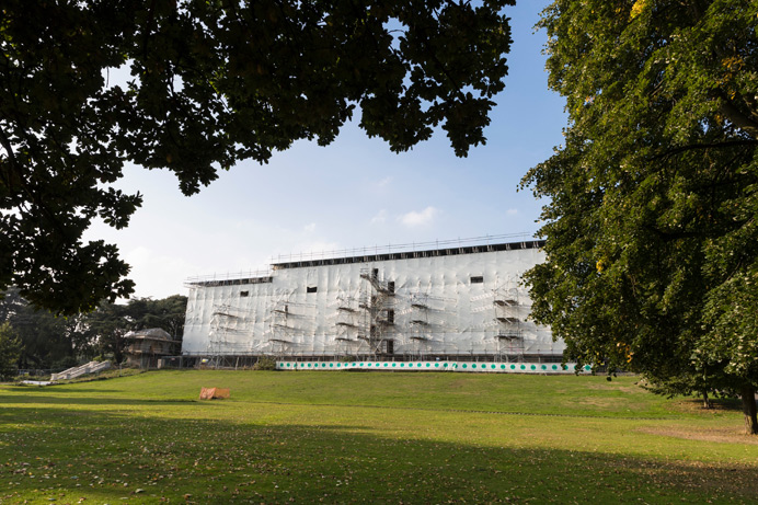 Gunnersbury Park: The large mansion being restored