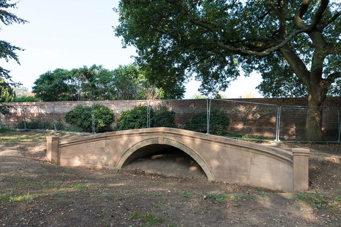 Gunnersbury Park: The sham bridge being restored