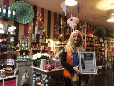 Laura Forsyth, best dressed window winner Acton 2016