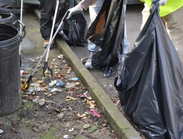 Clean-up in Greenford by Shaylor Group staff. Great British Spring Clean