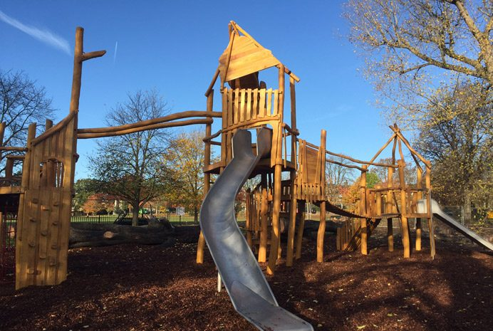 New equipment in Acton Park's playground