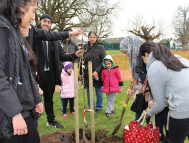 Southall orchard planting - Featherstone High