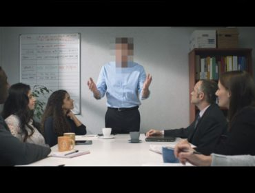Screenshot from Report it to Stop it campaign film against sexual offences on public transport
