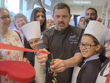 Cyrus Todiwala opening Stanhope Primary School's new kitchen