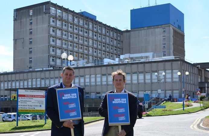 Council leaders Julian Bell and Steve Cowan launch the petition