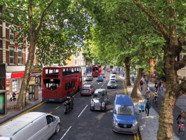 An artist's impression of the cycle superhighway