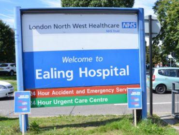 Ealing Hospital sign