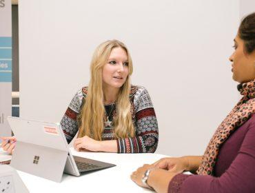 Skills Escalator adviser Kayliegh Creamer and client Aneela Rashid