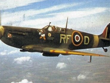 A Spitfire fighter plane like those used by the Polish squadron at RAF Northolt