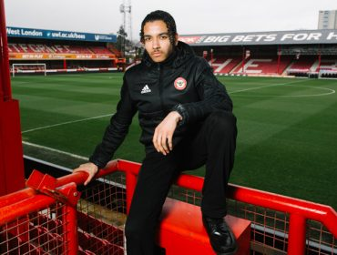 Young carer Ali at Brentford FC's stadium
