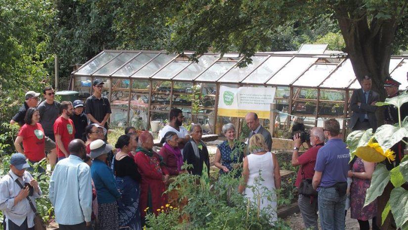 Duke of Kent visit to Horsenden Farm