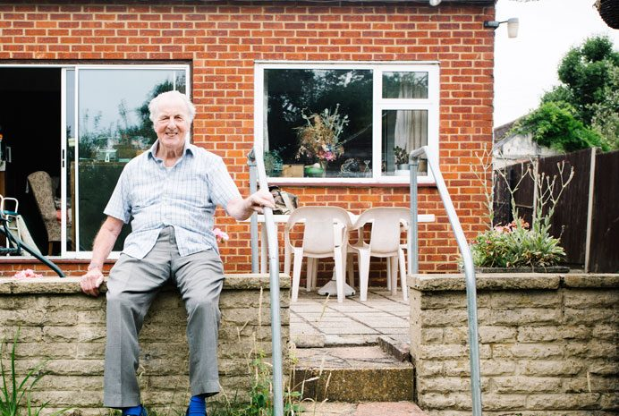 John Power was helped by the council's handyperson service