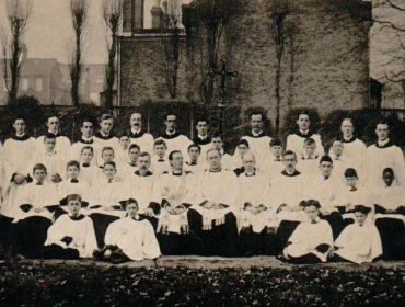 All Saints' Acton church choir, in about 1912