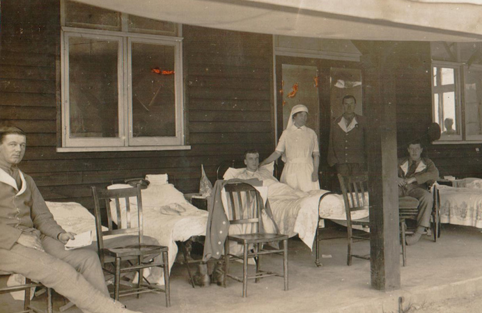 Auxiliary hospital in Southall during First World War