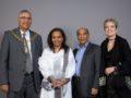 l-r Cllr Dhami, Tsinehana Asefeha, Eyob Tesfazghi, Carolyn Fair