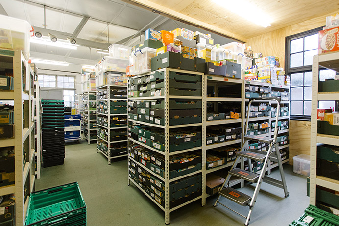 Ealing Foodbank's warehouse in Hanwell