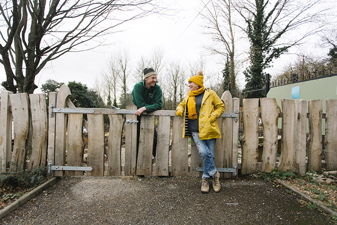 Horsenden Hill: Park ranger Jon Staples with Lynda O'Hare, chair of the friends group