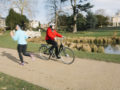 Summer of Cycling - cyclist in Walpole Park