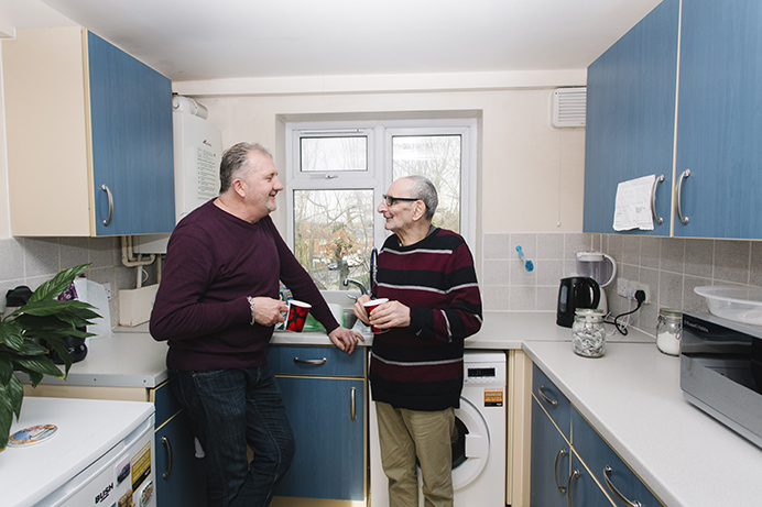 Paul from CHOICE, with Robert in his kitchen
