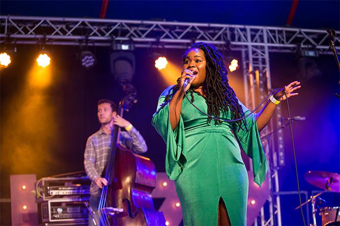 Zara McFarlane performing at Ealing Summer Festivals 2018