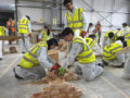 Bricklaying at the Construction Challenge 2019 event in Southall