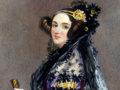 Watercolor portrait of Ada King, Countess of Lovelace (Ada Lovelace) circa 1840
