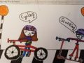 Winning design bookmark for the active travel on the school run