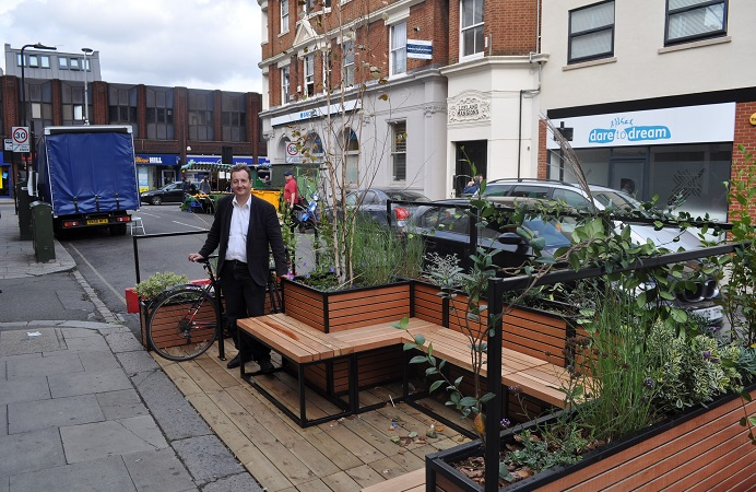 The LIve West Ealing initiative has secured parklets on streets in the area