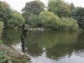 Harry Farrell, fishing at the Potomac Lake at Gunnersbury Park