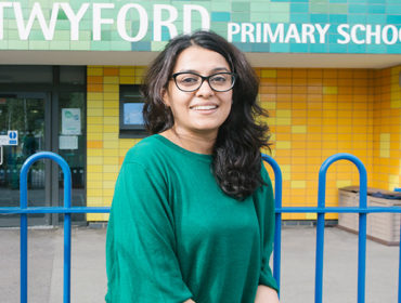 Kanika Gangwani started working as a teaching assistant at West Twyford Primary School after completing two adult learning courses