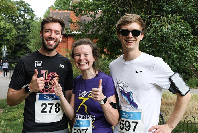 Ealing Mile runners