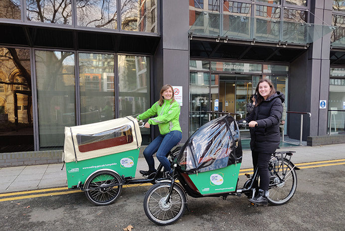 Cargo bikes are available to borrow