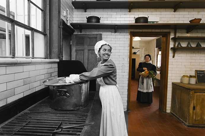Gunnersbury Park and Museum - costumed tours of the history and kitchens in particular