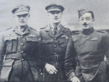 Harold Medlicott in Weilburg prison camp with other prisoners
