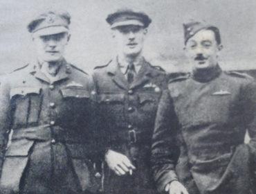 Harold Medlicott in Weilburg prison camp with other prisoners
