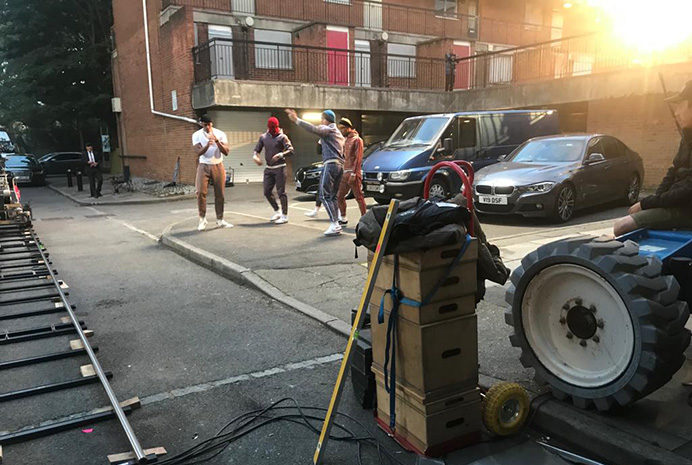 The Gentlemen movie being shot at Sherwood Close. Photo by West London Film Office