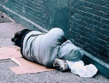 Rough sleeper on streets