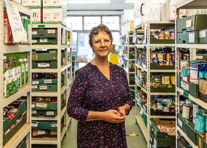 Janet Fletcher, Manager, Ealing Foodbank, St Mellitus Church Hall, Hanwell