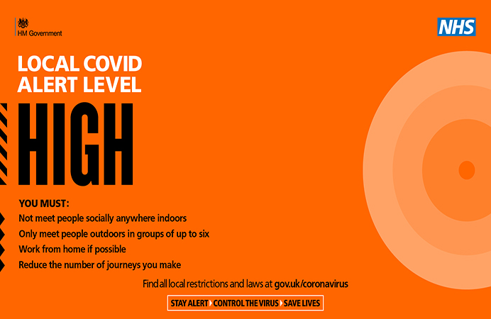 COVID-19 alert status is high