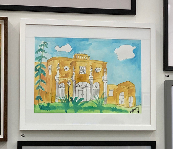 Edward Tabarac's painting of Pitzhanger Manor being exhibited at the Royal Academy of Arts Young Artists Summer Show
