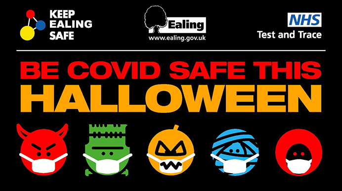 COVID safe Halloween poster
